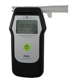 Picture of Breathalyser Dräger Alcotest® 3000 incl. 25 moucepieces