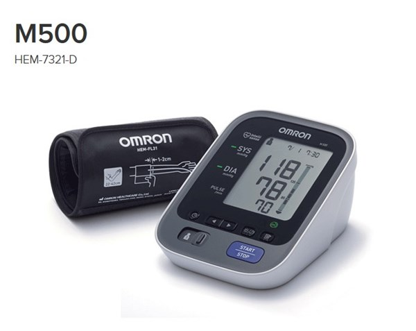 Picture of OMRON M500 upper arm blood pressure monitor (HEM-7321-D)