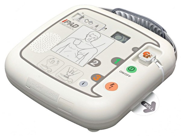 Picture of Defibrillator (AED) with voice commands, Modell iPAD CU-SP1 semi
