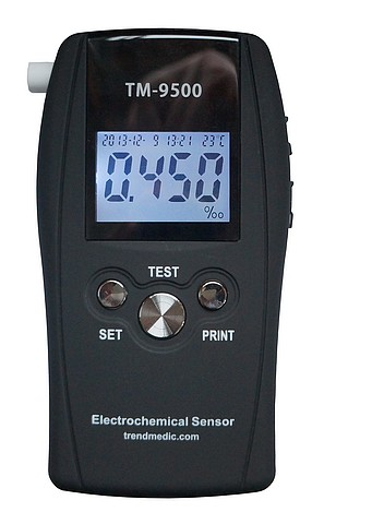 Police-Grade Breathalyzer TM-9500 Professional incl  25 Mouthpieces